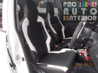 Sporty Black and White Brio using MBTech New Superior