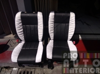 Elegant black and white leather for Daihatsu Xenia