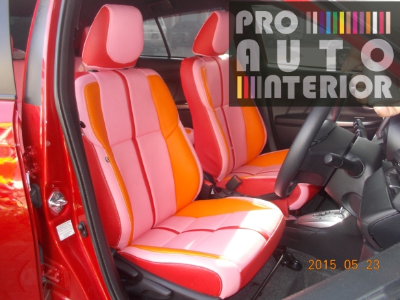 All New Yaris MBTech Tri-color (pink,orange and red leather seat)