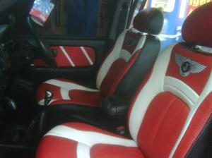Jok Mobil Panther Merah & Putih (Sporty Design)