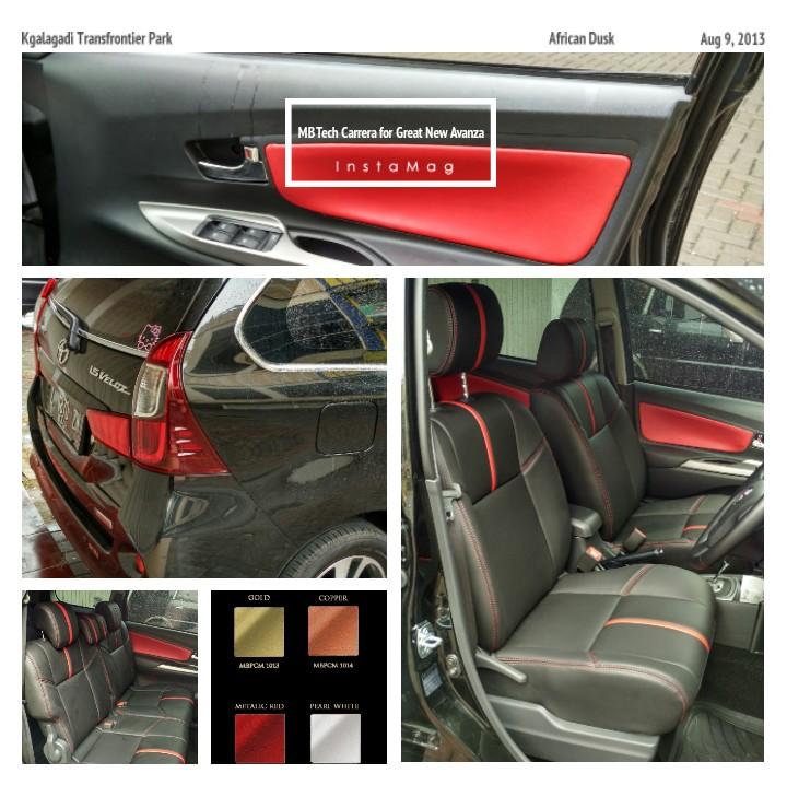 MBTech Carrera Black & Metallic Red Sporty on Great New Avanza