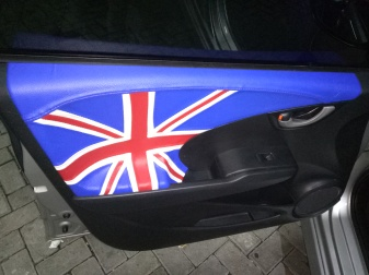 Blue White Red Carviero for British Flag