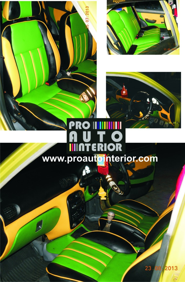 Sporty Green-Yellow Car Project