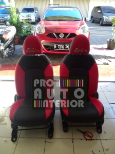 Nissan March MBTech Black & Red Sporty with Logo