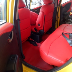 Honda Jazz full red interior Jok & Karpet (full merah)