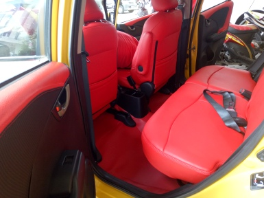 Honda Jazz full red interior Jok & Karpet (full merah)