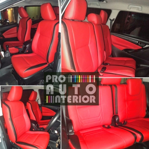 Jok MBTech Innova Full Red with black line (merah dan garis hitam)