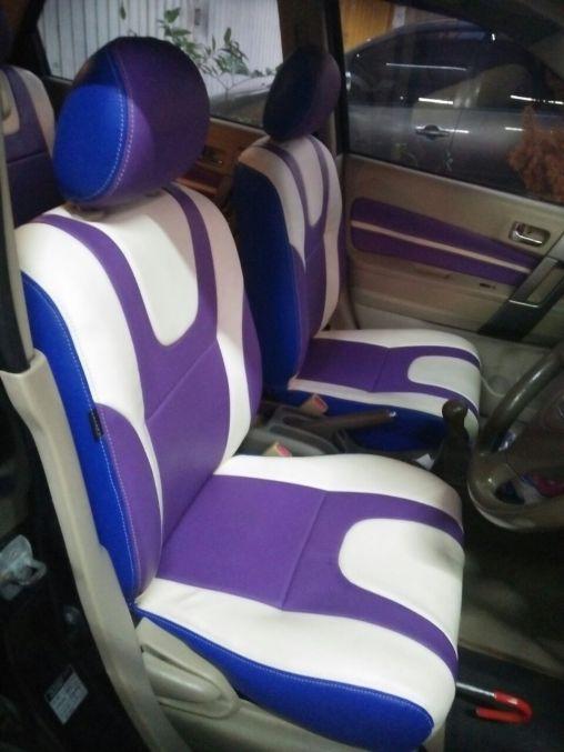 Cover Jok MBTech tema ungu dan putih (Purple & White)